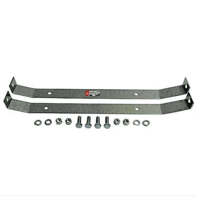 MTS [ CJGTSE-1 ] Gas Tank Skid Plate End Straps for Plastic Tank, 1972-1990 Jeep CJ and Jeep Wrangler YJ