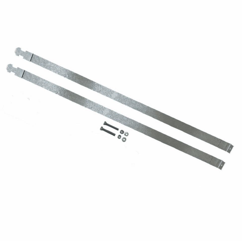 """MTS [ FMGTSR-4 ] Plastic Fuel Tank Top Straps for 2000-2010 Ford F350, F450, F550 Super Duty Series """"Diesel Only"""" 40 Gallon Rear Tank"""