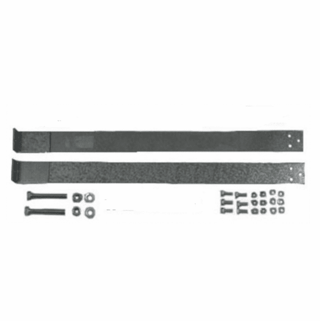 MTS [ GMGTS-1 ] Plastic Gas Tank Straps for 1973-1987 Chevy, GMC Full-Size Pickup 16 or 20 Gallon Gas Tank with bolts.