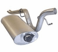 Crown [ 5362724 ] Muffler assembly,�5.0L 304 V8, 1979-81 Jeep CJ, includes tailpipe ���������������������
