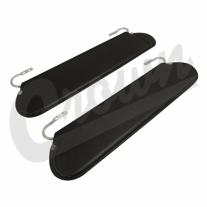 Crown [ RT54001 ] Replacement sun visors, black vinal, sold in pairs, fits 1972-86 Jeep CJ-5, CJ-7 & CJ-8 �����