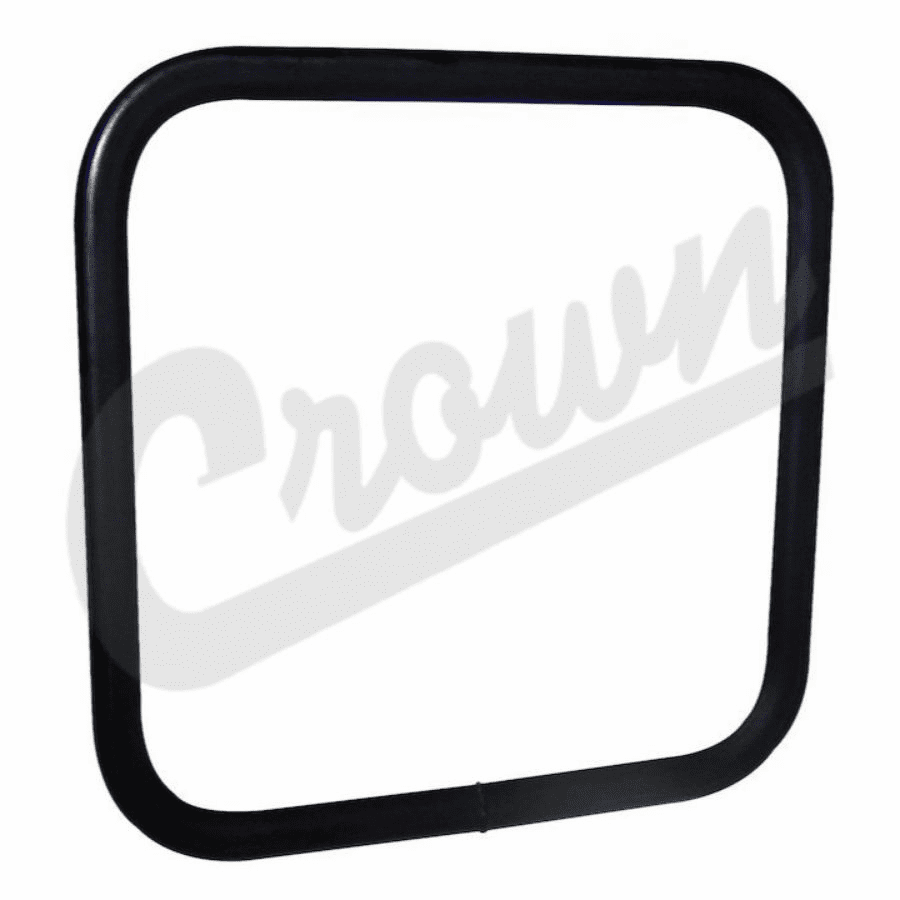 Crown [ J5462736 ] Square side mirror head, black, fits 1955-86 Jeep CJ-5, CJ-7 & CJ-8 Scrambler
