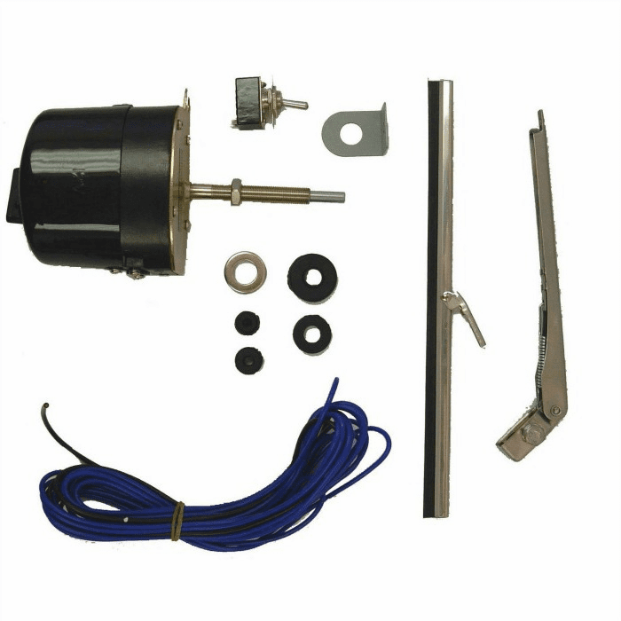 Crown [ 12V ] Universal windshield wiper motor conversion kit in 12 volt, fits 1945-68 Willys CJ-2A, CJ-3A, CJ-3B, CJ-5 and CJ-6