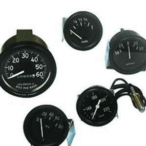 Willys CJ3B Gauges