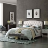 Amelia Full Faux Leather Bed