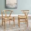 Amish Wood Dining Armchair Set of 2 in Natural