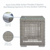 Aura Outdoor Patio Wicker Rattan Side Table in Gray