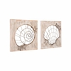 Beach Wall Decor Set of 2 in Antique