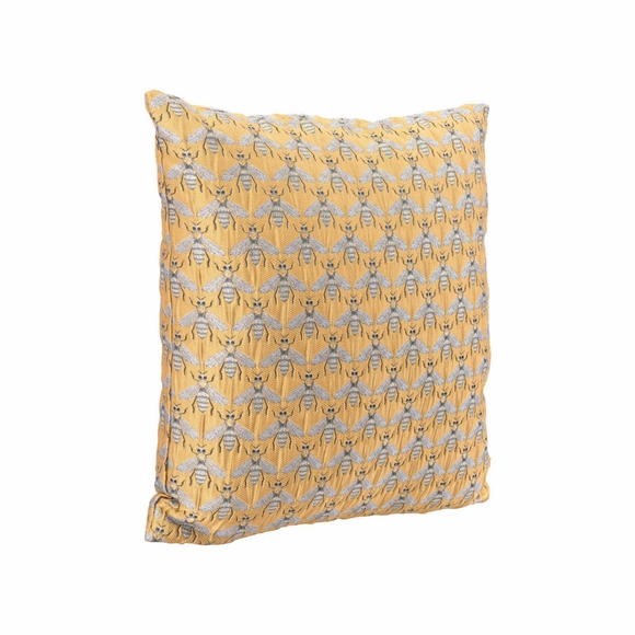 Bees Al Sol Pillow in Yellow