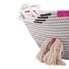 Benin Baskets With Handles Set of 2 in Beige & Red