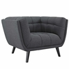 Bestow 2 Piece Upholstered Fabric Loveseat and Armchair Set