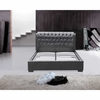 Bianca Modern Bed with Tufted Headboard Queen Size in Black