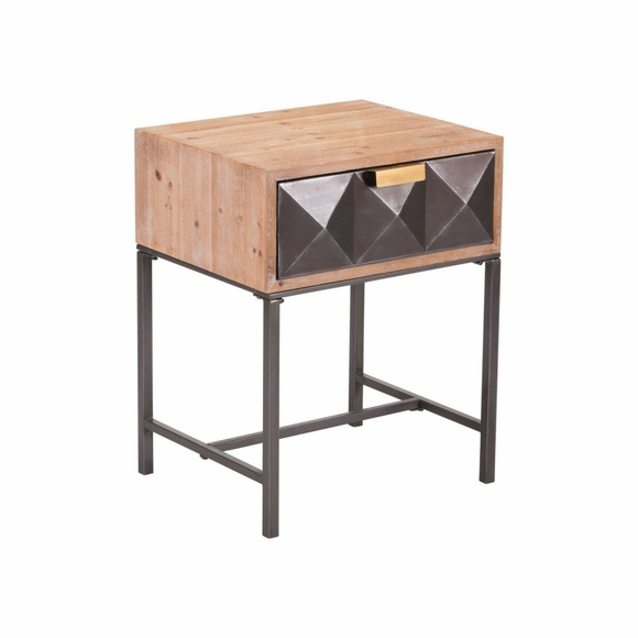 Black End Table in Antique