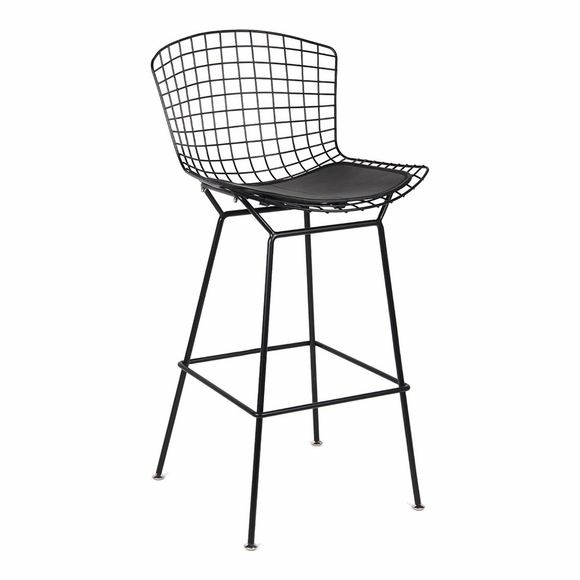 Black Wire Counter Chair in Black