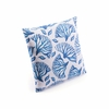 Blue Coral Pillow in Blue & White