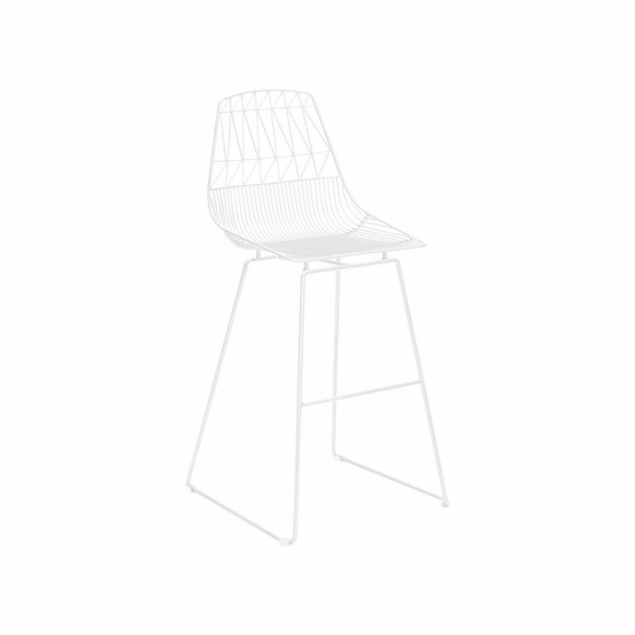 Brody Bar Chair Set of 2 in White