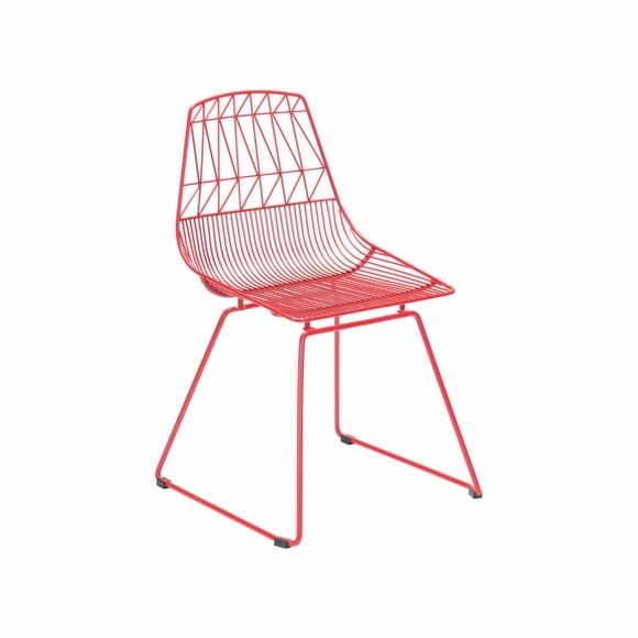 Brody Dining Chair Set of 2 in Red