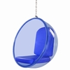 Bubble Hanging Chair Blue Acrylic
