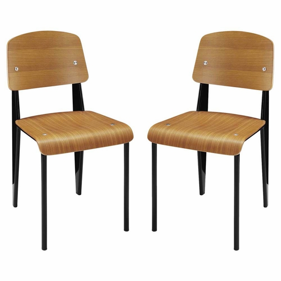 Cabin Dining Side Chair Set of 2 in Walnut