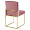 Carriage Channel Tufted Sled Base Performance Velvet Dining Chair