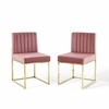 Carriage Dining Chair Performance Velvet Set of 2