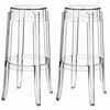 Casper Bar Stool Set of 2 in Clear