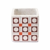 Cement Squares Planter in Red & Orange