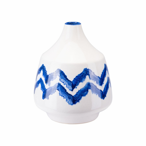 Chevron Small Bottle in Cobalt