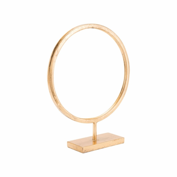 Circle Figurine Large in Gold