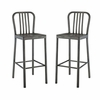 Clink Bar Stool Metal Set of 2 in Silver