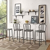 Clink Counter Stool Set of 4 in Silver