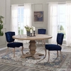 Column 59inch Round Pine Wood Dining Table in Brown MID-3493