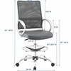 Command Mesh and Vinyl Drafting Chair