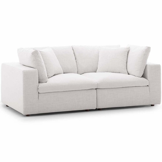 Commix Down Filled Overstuffed 2 Piece Sectional Sofa Set ...