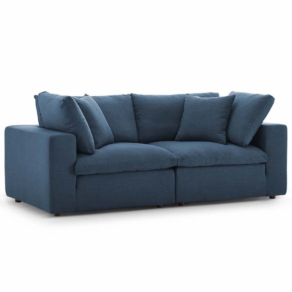 Commix Down Filled Overstuffed 2 Piece Sectional Sofa Set