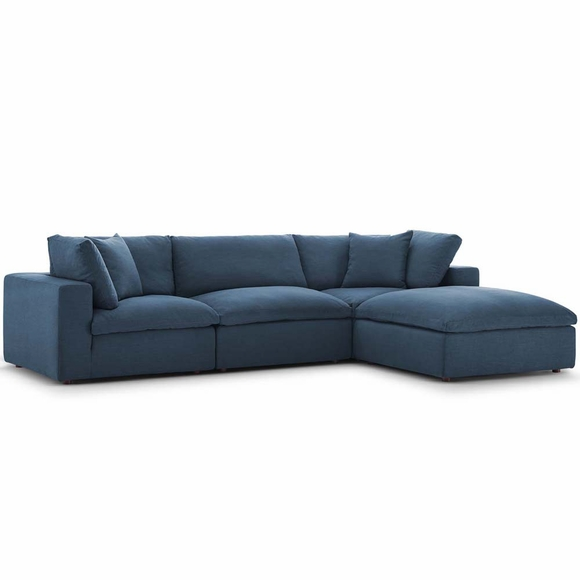 Commix Down Filled Overstuffed 4 Piece Sectional Sofa Set MID-3356