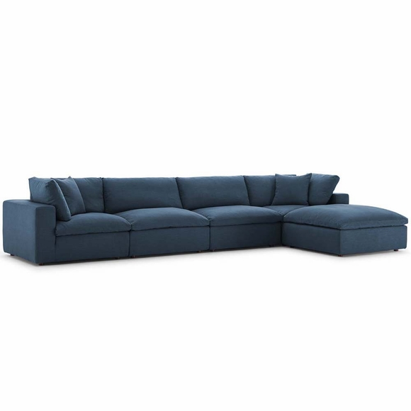 Commix Down Filled Overstuffed 5 Piece Sectional Sofa Set MID-3358