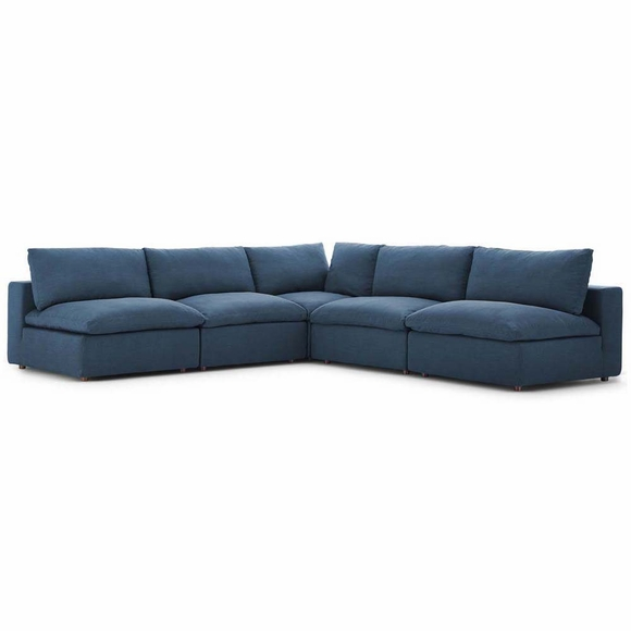 Commix Down Filled Overstuffed 5 Piece Sectional Sofa Set MID-3360