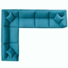 Commix Down Filled Overstuffed 6 Piece Sectional Sofa Set MID-3361
