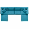 Commix Down Filled Overstuffed 6 Piece Sectional Sofa Set MID-3362