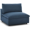 Commix Down Filled Overstuffed Armless Chair in Teal