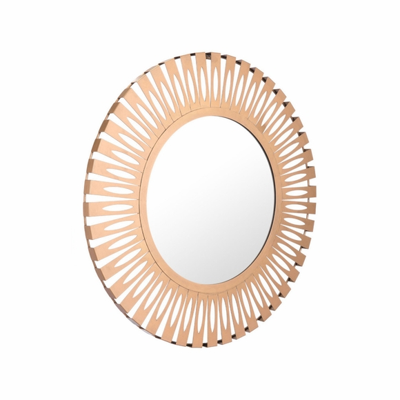 Conall Round Mirror in Gold