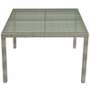 Conduit 47inch Square Outdoor Patio Wicker Rattan Table in Light Gray