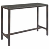 Conduit Outdoor Patio Wicker Rattan Large Bar Table in Brown