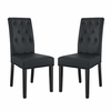 Confer Dining Side Chair Vinyl Set of 2