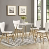 Continuum 28inch Square Dining Table in White