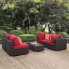 Convene 5 Piece Outdoor Patio Sectional Set MID-2356