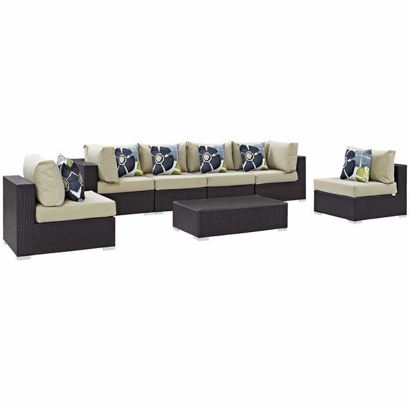 Convene 7 Piece Outdoor Patio Sectional Set MID-2357
