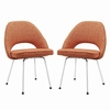 Cordelia Dining Chairs Set of 2 in Orange