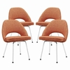 Cordelia Dining Chairs Set of 4 in Orange